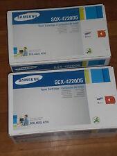 2 x Samsung scx-4720d5 TONER CARTRIDGE in integro OVP per SCX 4520 + 4720
