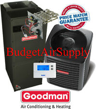 4 ton 16 SEER Goodman Heat Pump System GSZ160481+ASPT49D14+Tstat+Heat NEW MODEL!