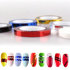 Cool Nice Roll Nail Stickers DIY Waves Striping Tape Line Nail Art Tips Decor