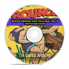 Super Hero, Villains, Vol 4, Bounce, Captain Marvel Jr Golden Age Comics DVD D69