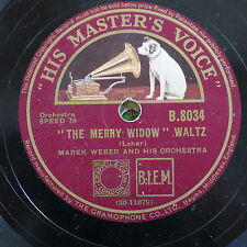 78rpm MAREK WEBER merry widow waltz / count of luxembourg