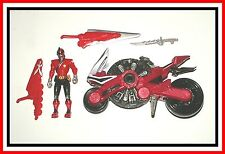 2011 Power Rangers Samurai - Red Samurai Disc Cycle with Red Ranger