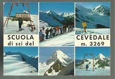 cartolina anni 70 scuola di sci estiva del cevedale olimpionici f.lli compagnoni