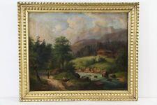ABBIATI JULIUS PAESAGGIO MONTANO olio su tela cm 67x 80,5 incorniciato