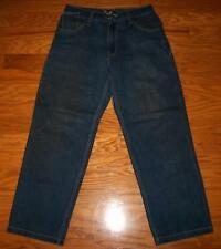 MEN'S RAW BLUE RB STYLISH DENIM EMBROIDERED PATCH ROOSTER JEANS 33 34X31