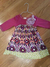 Twigs and Twirls Size 4T pink long sleeved dress CUTE!