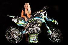SCRUB Kawasaki graphics decals kit KX 250f 2009-2012 stickers KXF '09-'12