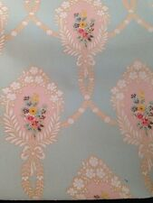 Vintage Rare Turn Of The Century Floral Shabby Chic Wallpaper
