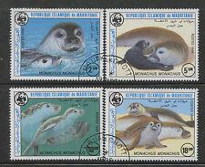 WWF Monk Seals cto set of 4 stamps 1986 Mauritania #597-600