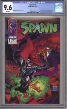 SPAWN 1 CGC 9.6 WP CENTERED GLOSSY 1ST APPERANCE SPAWN  BLUE  LABEL IMAGE