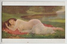 "POSTCARD - artist signed Stephen Jacob ""Bather"" glamour erotic nude woman beauty"