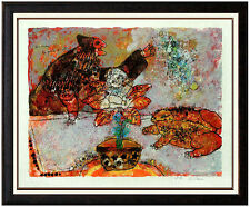 Theo Tobiasse Color Lithograph HAND SIGNED Rare Hans Christian Andersen Artwork