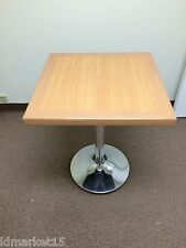 Set of 6 Tables Restaurant/Cafe/Bar Laminate Mahogany Table Top with Chrome Base