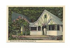 ENTRANCE TO ICE MINE AND GIFT SHOP COUDERSPORT, PA WHITE BORDER LINEN POSTCARD