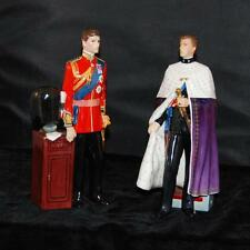 Royal Doulton Figurines HRH The Prince of Wales- Ltd Ed 1500-HN 2883 & 2884-MINT
