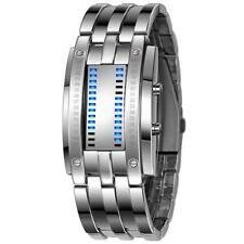 Luxury Men's Watch Stainless Steel Date LED Digital Watch Bracelet Sport Watches