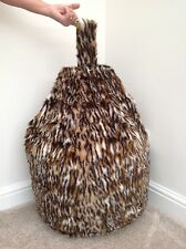 FAUX FUR LARGE SIZE NEW LUXURIOUS CHILDREN OCELOT BEAN BAG / BEANIE COVER ONLY