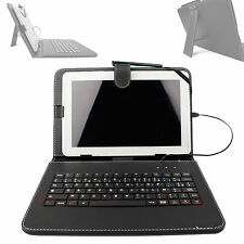 AZERTY Faux Leather Case Cover With Keyboard For Samsung Galaxy Tab 3 / 2 10.1