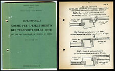 FERROVIE FS NORMA TRASPORTI COSE-RULES ON TRANSPORT OF THINGS / BAGGAGE  1971