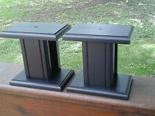 Small Black Speaker Stands 6  X 4  X 6 HIGH    Hard Wood