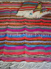 5x8 Area Rag Rug Large Oriental Runner Hand Loomed Indian Sari Throw Boho Carpet