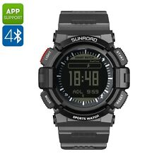 Sunroad FR9211B  Bluetooth, Gps, Heart Rate Monitor Waterproof Sports Watch