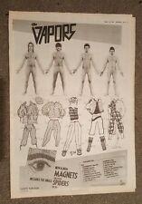The Vapors tour 1981 press advert Full page 30 x 42 cm mini poster