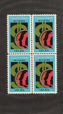 SCOTT # 2075 Credit Union Act 50th Anv United States U.S. Stamps MNH- Block of 4