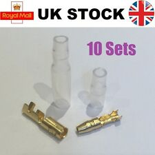 10x Sets 3.9mm Motorcycle Bullet Male & Female Connector Suzuki Yamaha Honda