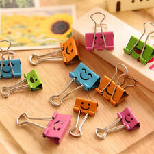 20PCS Study Office Accessories Tool Color Long Tail Clip Cute Smile Paper Clips