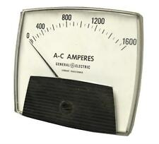 GENERAL ELECTRIC AC AMPERES ANALOG PANEL METER 0-1600 VOLTS