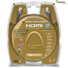 Monster Cable 10m HDMI ultrahd Gold cable (nuevo) comercio especializado