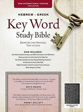 Hebrew Greek Key Word Study Bible NIV, Black (Key Word Study Bibles), , Acceptab