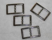 "Lot 4 silver metal mini BELT BUCKLE Buckles 1/2"" 1"" Doll Craft Sewing P82"