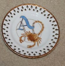 VINTAGE ALMENDARES SCORPION  CUBAN BASEBALL PLATE MASCOT CERAMIC PERFORATED 6""