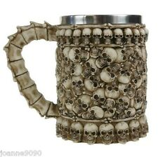 NEMESIS NOW LARGE SKULLS PIT TANKARD SKELETON GOTHIC MUG PIRATE BONES FANTASY