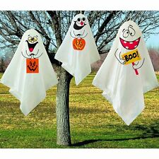 3 Ghost Hanging Decorations - Indoor/Outdoor Halloween Party Decorations