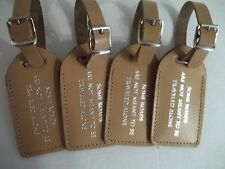 Wedding favor,100 sun-tan leather, escort luggage tags,  $2.15 each