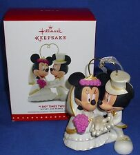Hallmark Ornament Cake Topper I Do Times Two 2015 Mickey Mouse & Minnie Wedding