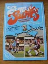 15/09/1982 Southampton v Norkopping [UEFA Cup] . Item In very good condition unl