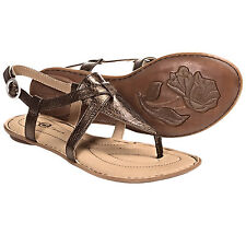 New in Box Womens Crown by Born  Aberlin Brown Wood Metallic Sandals Size 7