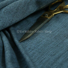 10 Metre Of Soft Faux Wool Finish Navy Blue Chenille Fabric Upholstery & Curtain
