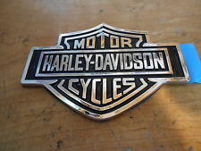 HARLEY DAVIDSON HARLEY-DAVIDSON MOTOR CYCLES FORD CHROME SELF STICK EMBLEM METAL