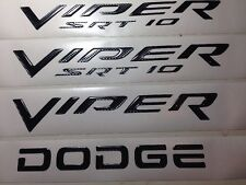 2003-2010 Dodge Viper SRT10 FENDER & REAR emblem kit 4 pc Carbon Fiber NEW
