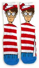 LADIES WHERE'S WALLY IN HIS STRIPY JUMPER SOCKS UK 4-8 EUR 37-42 USA 6-10