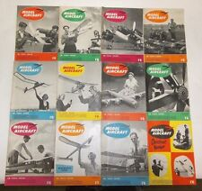 Lot of 12 Vintage Model Aircraft Magazines 1954