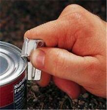 2x COMPACT POCKET KEYRING SIZE MILITARY RATIONS TIN CAN OPENERS BUSHCRAFT