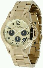 Marc By Marc Jacobs Da Donna Rock Chrono Champagne Gold Watch mbm3158 ~ Regalo