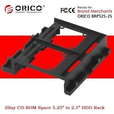 """ORICO 5.25"""" CD-ROM Space to 2Bay 2.5"""" 3.5"""" SSD Hard Disk Drive Converter Bracket"""