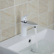 2015 Bathroom Sink Faucet Deck Mounted  Single Handle /  Hole White Tap